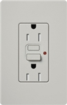 Lutron SCR-15-GFST-PD Claro Satin Self-Testing Tamper Resistant 15A GFCI Receptacle, in Palladium