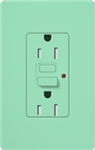 Lutron SCR-15-GFST-SG Claro Satin Self-Testing Tamper Resistant 15A GFCI Receptacle, in Seaglass