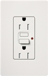 Lutron SCR-15-GFST-SW Claro Satin Self-Testing Tamper Resistant 15A GFCI Receptacle, in Snow