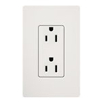 Lutron SCR-15-GFTR-SW Claro Satin Tamper Resistant 15A GFCI Receptacle in Snow (Replaced by SCR-15-GFST-SW)