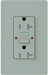 Lutron SCR-20-GFST-BG Claro Satin Self-Testing Tamper Resistant 20A GFCI Receptacle, in Bluestone