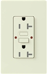 Lutron SCR-20-GFST-BI Claro Satin Self-Testing Tamper Resistant 20A GFCI Receptacle, in Biscuit