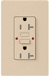 Lutron SCR-20-GFST-ES Claro Satin Self-Testing Tamper Resistant 20A GFCI Receptacle, in Eggshell