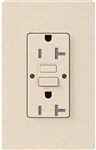 Lutron SCR-20-GFST-LS Claro Satin Self-Testing Tamper Resistant 20A GFCI Receptacle, in Limestone