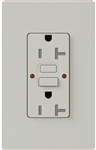 Lutron SCR-20-GFST-PD Claro Satin Self-Testing Tamper Resistant 20A GFCI Receptacle, in Palladium