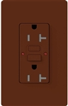 Lutron SCR-20-GFST-SI Claro Satin Self-Testing Tamper Resistant 20A GFCI Receptacle, in Sienna