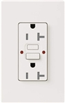 Lutron SCR-20-GFST-SW Claro Satin Self-Testing Tamper Resistant 20A GFCI Receptacle, in Snow