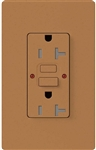 Lutron SCR-20-GFST-TC Claro Satin Self-Testing Tamper Resistant 20A GFCI Receptacle, in Terracotta