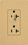 Lutron SCR-20-HDTR-GS Claro Satin Tamper Resistant 20A Split Duplex Receptacle Half for Dimming Use in Goldstone