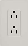 Lutron SCRS-15-TR-PD Claro Satin Tamper Resistant 15A Duplex Receptacle in Palladium
