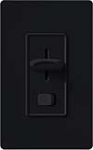 Lutron SELV-300P-BL Skylark 300W Electronic Low Voltage Single Pole Preset Dimmer in Black