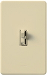 Lutron-TG-600PH-IV (AY-600P-IV) Toggler / Ariadni 600W Incandescent / Halogen Single Pole Preset Dimmer in Ivory