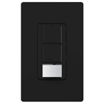 Lutron UMS-OPS6-DDV-BL Maestro Dual-circuit Switch with Occupancy/Vacancy Sensor, 6A 120V-277V in Black, BAA Compliant