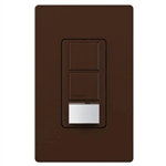 Lutron UMS-OPS6-DDV-BR Maestro Dual-circuit Switch with Occupancy/Vacancy Sensor, 6A 120V-277V in Brown, BAA Compliant