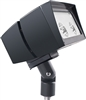RAB FFLED39B55/PC2 39W Arm Mount LED Floodlight, 277V Button Photocell, 5000K (Cool), 3946 Lumens, 64 CRI, 5H x 5V Beam Distribution, Standard Operation, Bronze Finish