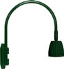 "RAB GN4LED13YG 26W LED Gooseneck No Shade with Wall 20"" High, 19"" from Wall Goose Arm, 3000K (Warm), Flood Reflector, Hunter Green Finish"