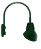 "RAB GN4LED13YRAD11G 13W LED Gooseneck Dome Shade with Wall 20"" High, 19"" from Wall Goose Arm, 3000K (Warm), Rectangular Reflector, 11"" Angled Dome Shade, Hunter Green Finish"