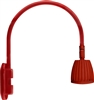 "RAB GN4LED13YSR 26W LED Gooseneck No Shade with Wall 20"" High, 19"" from Wall Goose Arm, 3000K (Warm), Spot Reflector, Red Finish"