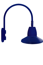 "RAB GN4LED26NSSTBL 26W LED Gooseneck Straight Shade with Wall 20"" High, 19"" from Wall Goose Arm, 4000K (Neutral), Spot Reflector, 15"" Straight Shade, Royal Blue Finish"