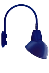 "RAB GN4LED26YADBL 26W LED Gooseneck Dome Shade with Wall 20"" High, 19"" from Wall Goose Arm, 3000K (Warm), Flood Reflector, 15"" Angled Dome Shade, Royal Blue Finish"