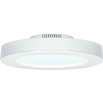 "Satco S9099 13.5W 7"" LED Flush Mount, 120V, 3000K, 108 Degree Beam Spread, White Finish - 13.5WLED/7FL/WH/3K"