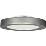 "Satco S9192 13.5W 7"" LED Flush Mount, 120V, 3000K, 108 Degree Beam Spread, Satin Nickel Finish - 13.5WLED/7FL/SN/3K"