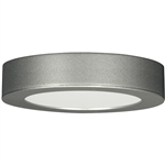 "Satco S9194 13.5W 7"" LED Flush Mount, Deep Dish, 120V, 3000K, 108 Degree Beam Spread, Satin Nickel Finish - 13.5WLED/7FL/SN/3K/1.8"