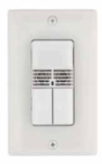 Square D Schneider Electric SLSDWD1277UB 120/277 VAC Wall Switch Occupancy Sensor with Dual-Circuit Dual Technology Black Color