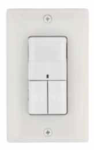 Square D Schneider Electric SLSPWD1277UW Wall Switch Occupancy Sensor 120/277 VAC Wall Switch Occupancy Sensor with Dual-Circuit Passive Infrared (PIR) White Color