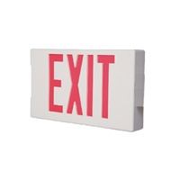 Sure Lites LPXR5SD LED Polycarbonate Exit Sign, 5 Watts Remote Capacity, Self-Diagnostics, White Housing
