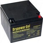 Drypower 12V 24Ah Sealed Lead Acid Gel Battery