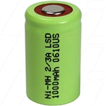 KR600AE Replacement - Industrial grade 2/3A 1000mAh NiMH cylindrical battery