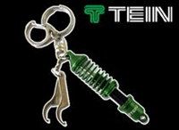 Tein Coilover Key Chain, Green/Black