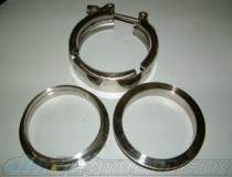 V-Band Exhaust Flange Kit 2.5 inch
