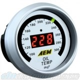 AEM Oil/Trans/Water Temp Gauge 100-300F, 52mm