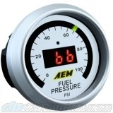 AEM Oil/Fuel Pressure Gauge 0 to 100 psi, 52mm