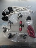 Bosch 970cc Injector Set 14mm, High Impedance, With Clips