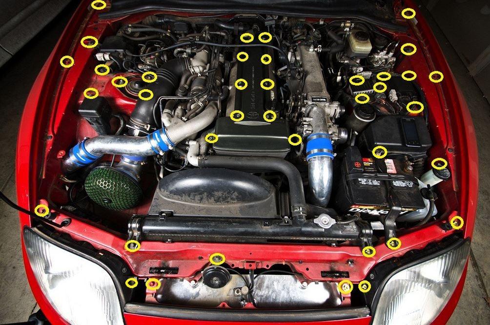 Mk4 Supra 2jz Gte Engine Bay Dress Up Bolt Kit