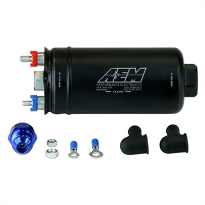 AEM 385lph High Flow In-Line Fuel Pump