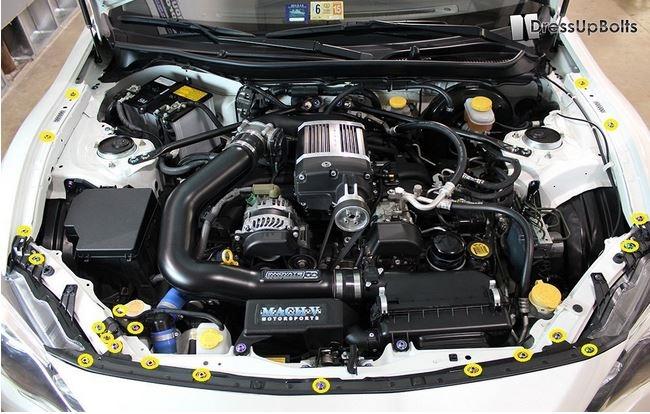 Subaru BRZ (Partial) Engine Bay Dress Up Bolt Kit