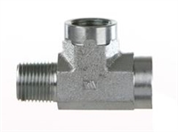 "1/8"" BSP T Fitting, 1 Male to 2 Female"