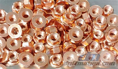 Copper Plated Exhaust Nut 10mm x 1.25