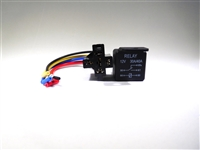 "Automotive Relay Socket & Pigtail 30 AMP 6"" (Plastic)"