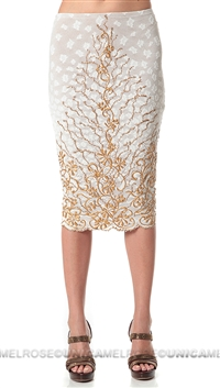 Baccio Couture White & Gold Sussy Skirt