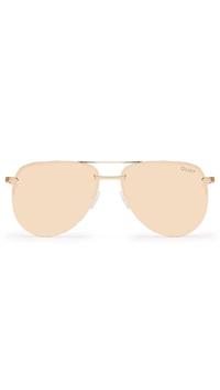 Quay Gold/Pink Lens 'The Playa' Sunglasses