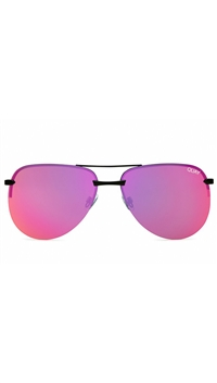 Quay Black/Pink Lens 'The Playa' Sunglasses