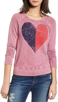 Sundry Heart Sweatshirt (Navy - Red)