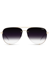 "Quay Gold/Fade ""High Key"" Rimless Sunglasses"