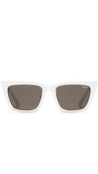 "Quay White/Smoke Lens ""Dont At Me"" Sunglasses"