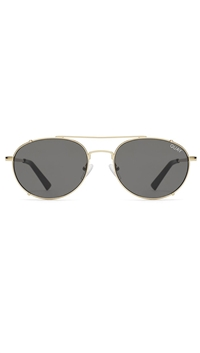 Quay Gold/Smoke Lens 'Little J' Sunglasses